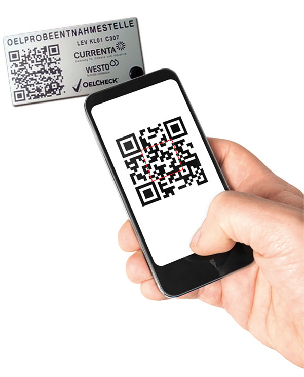 QR-Codes enable on-site oil sample management